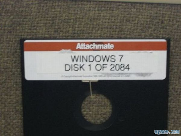 Install Windows 7 from floppy disks