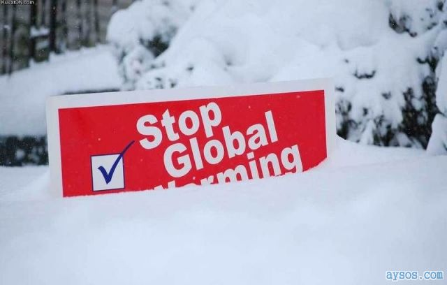 Stop Global Warming Sign