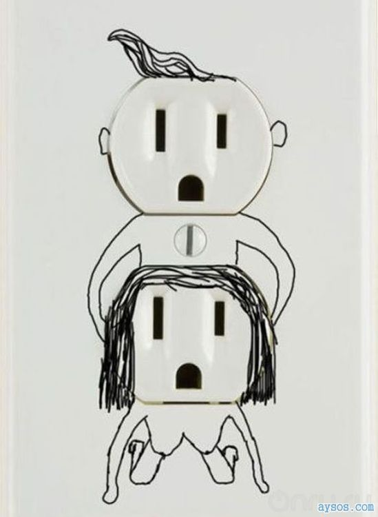 Creative picture of electrical outlet