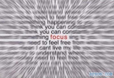 Try to Keep your Focus