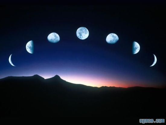 Cool Time Lapse Moon Phases