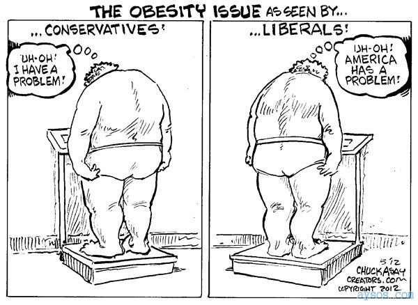 Liberal vs Conservative views on Obesity