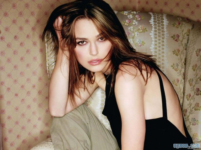 Keira Knightley cute brown eyes