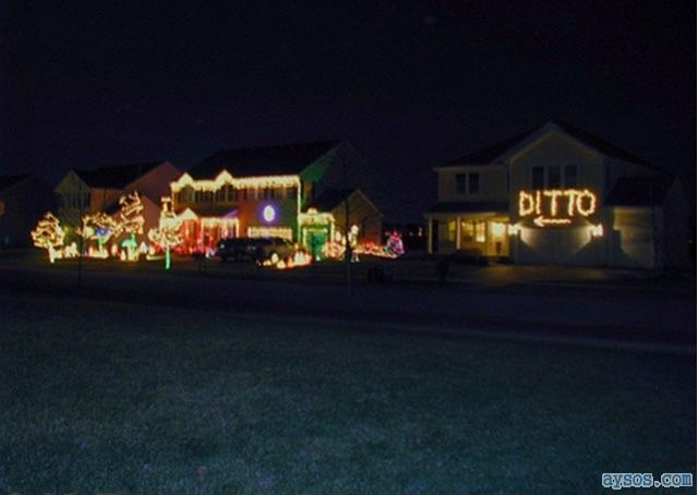 Your neighbors house Christmas lights