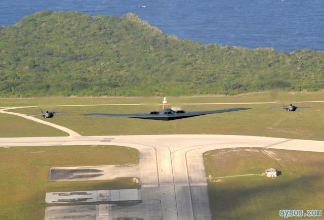 Stealth bomber and fighters picture