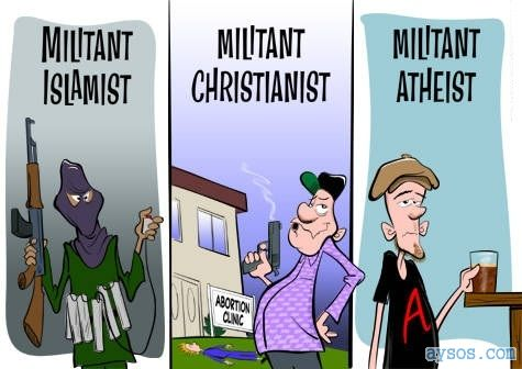 Funny cartoon Atheists are good