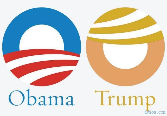 Obama and Trump Logo Comparison