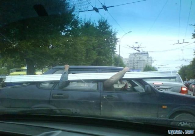 Hauling wood in their Car