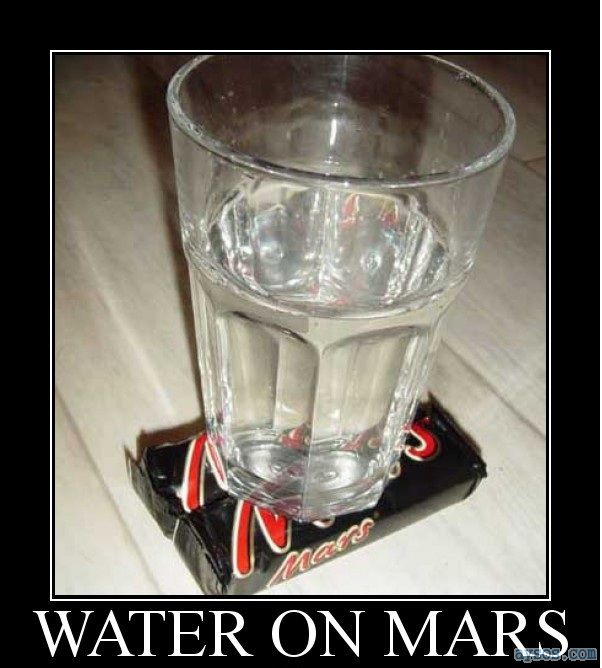 Funny picture of water on Mars