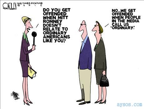 Funny cartoon Politics and ordinary Americans