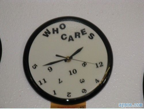 Who cares about time funny clock