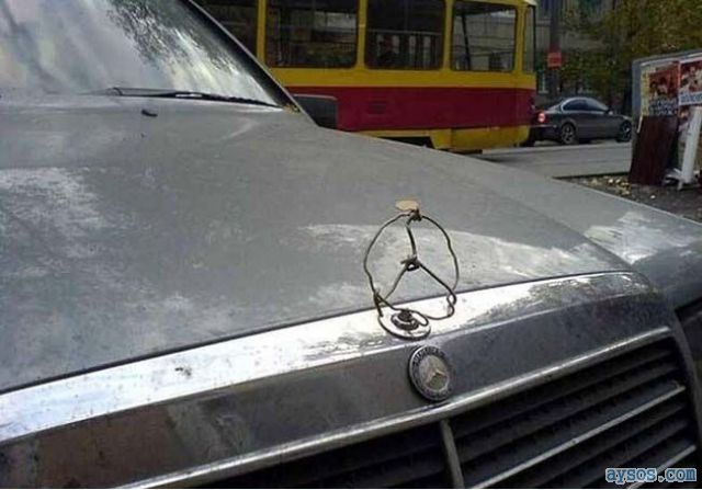 Ghetto Mercedes car emblem