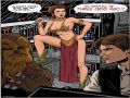 Princess Leia Star Wars scene