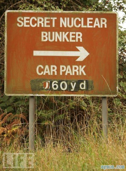 Secret nuclear bunker sign