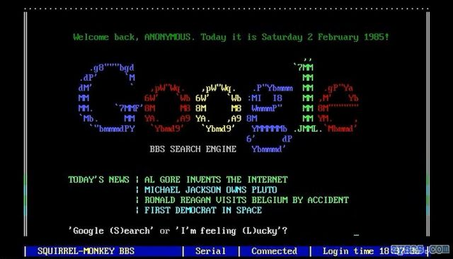 Funny Old Google Search Engine