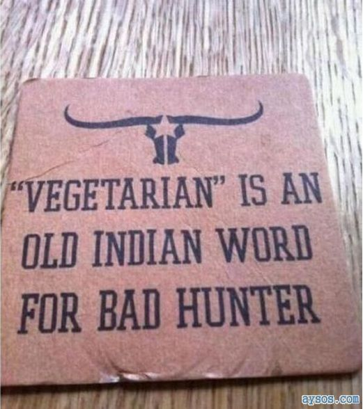 Vegetarian Indian name for bad hunter