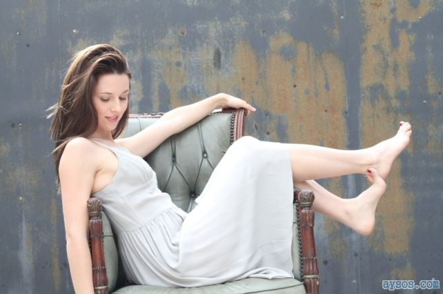 Alona Tal showing off her cute little body and sexy feet