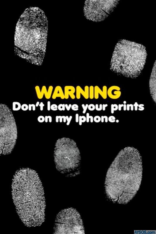 Funny iPhone fingerprint wallpaper