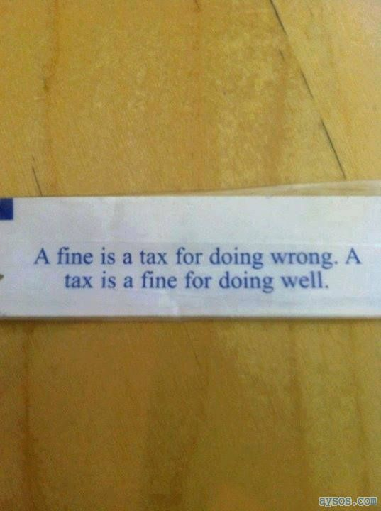 Fine or a Tax Fortune Cookie