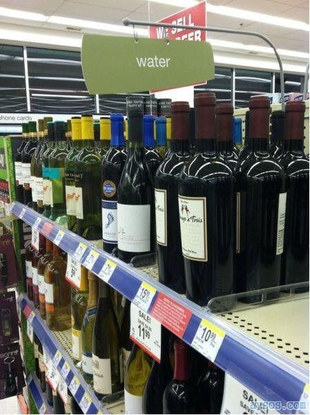 Wine or water funny picture