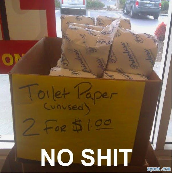 Funny sign Toilet paper for sale NEW