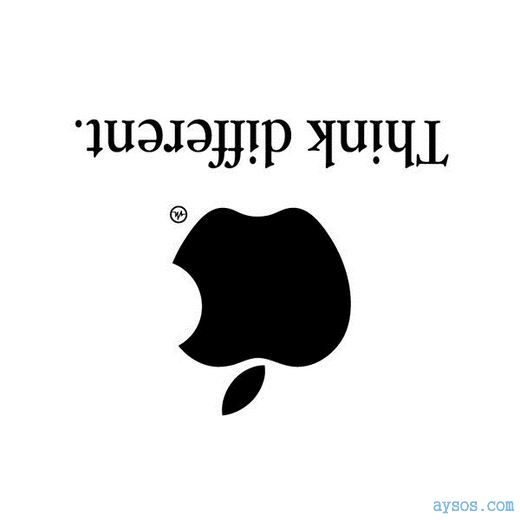 Funny Apple logo Think Different