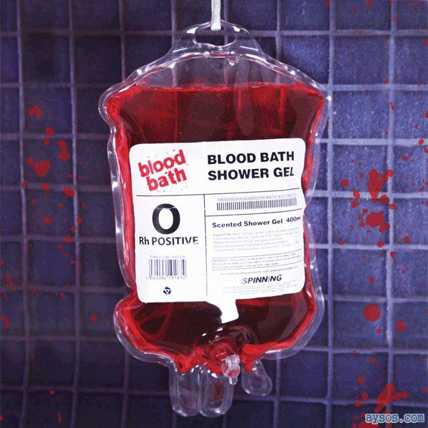 Give blood to Red Cross for shower
