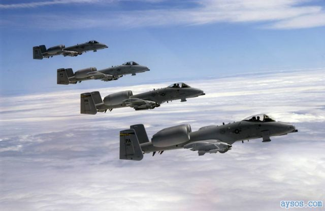 USAF A-10 millitary attack planes