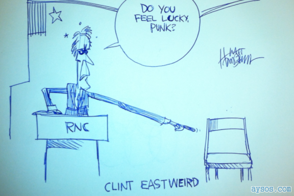 Clint Eastwood at RNC Talks to Chair