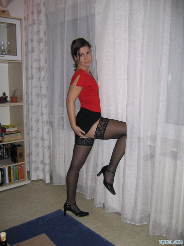 Wife stockings and heels