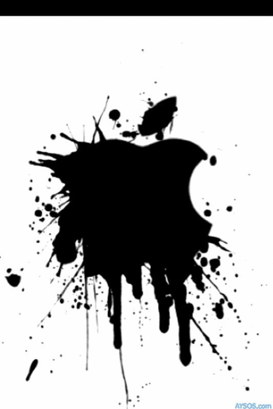 Apple logo splatter