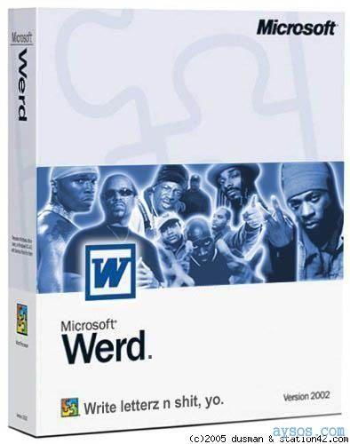 MS Werd Microsoft Word Spoof