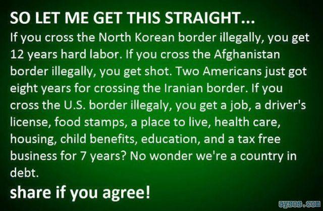 United States border Facts Illegal  Aliens