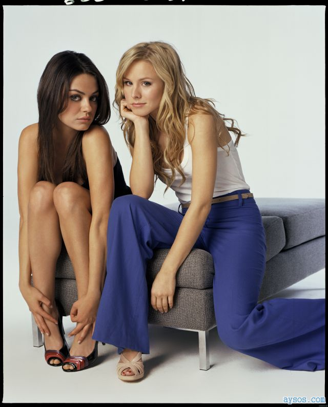Sexy Mila Kunis and Kristen Bell