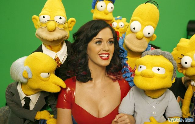 Katy Perry teasing the Simpsons cast