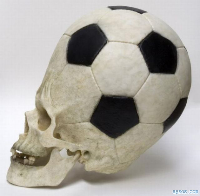 Funny picture soccer ball skull