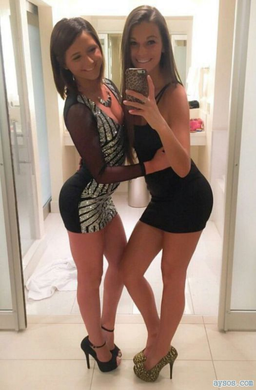 Girls like to have fun in skin tight dresses and heels