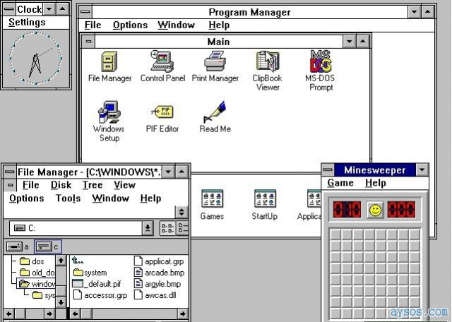 Microsoft Windows version 3 flashback
