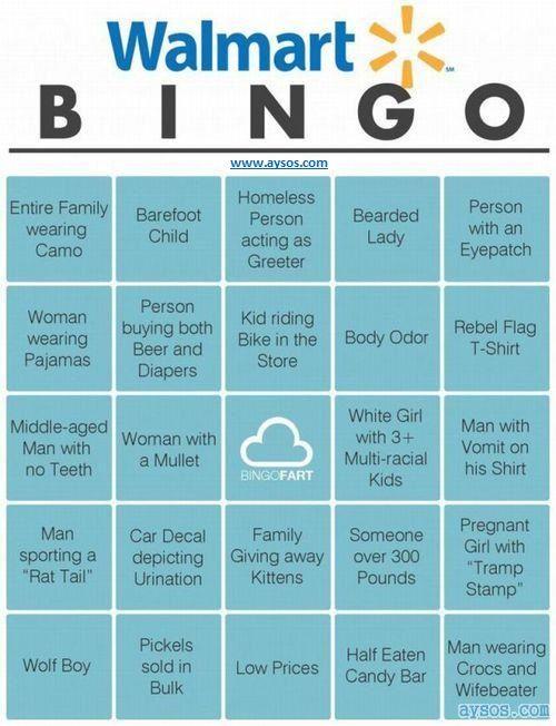 Introducing the Walmart Bingo Game