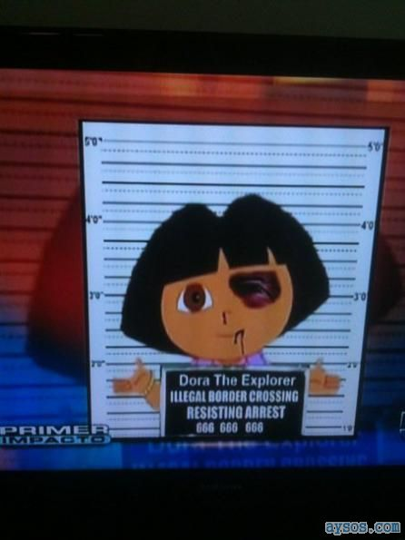 Dora caught by Arizona Immigration Law