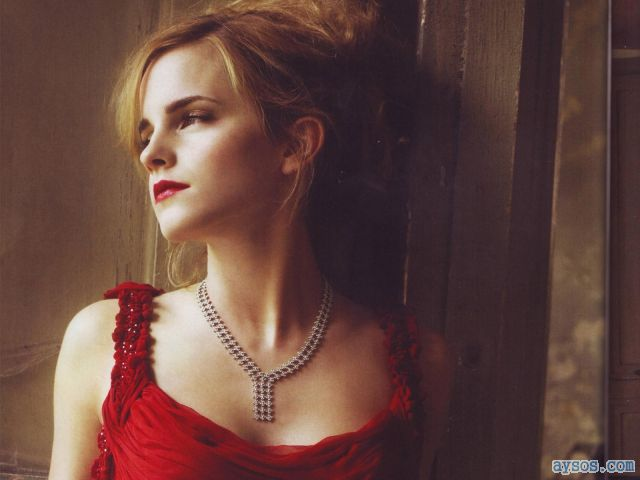 Beautiful Emma Watson in Red
