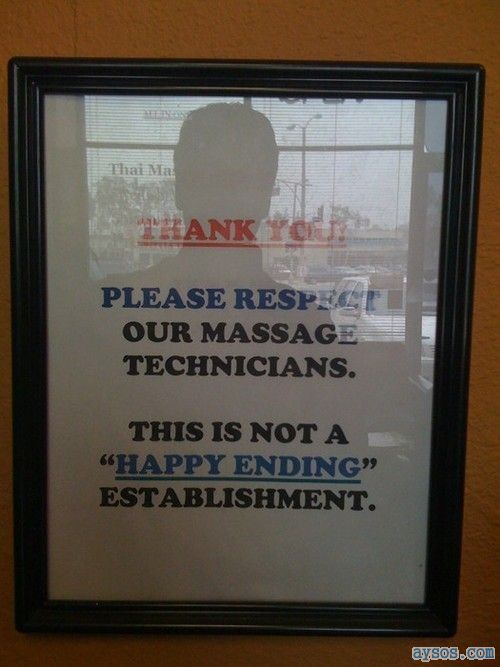 No Happy Ending massages here
