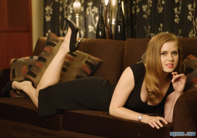 Amy Adams heels on the couch