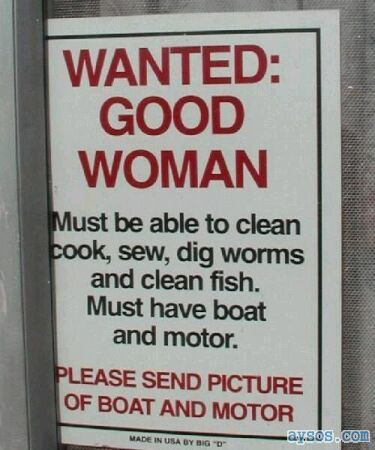 Good Woman Wanted Sign