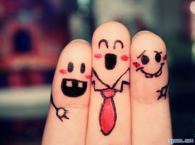 Funny picture finger people