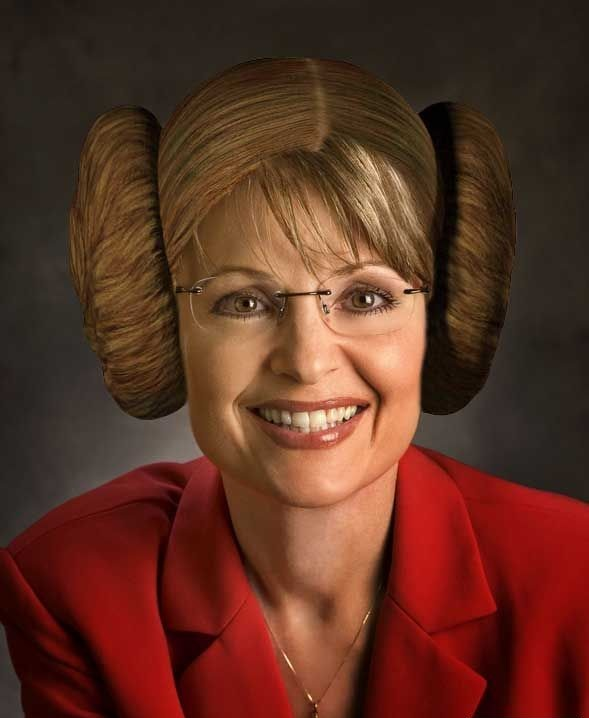 Sarah Palin as Princess Leia