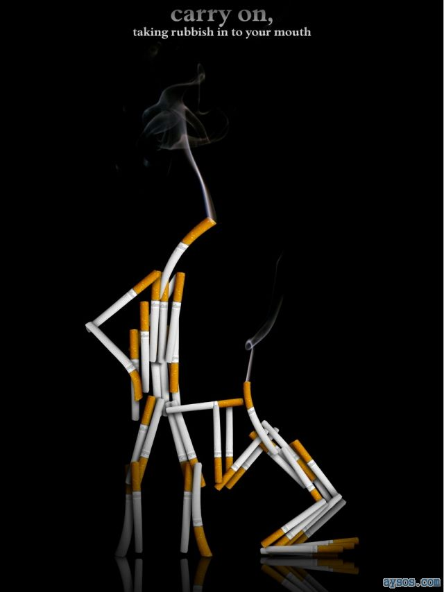 Funny picture anti smoking marketing