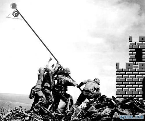 Iwo Jima Mario Brothers Style
