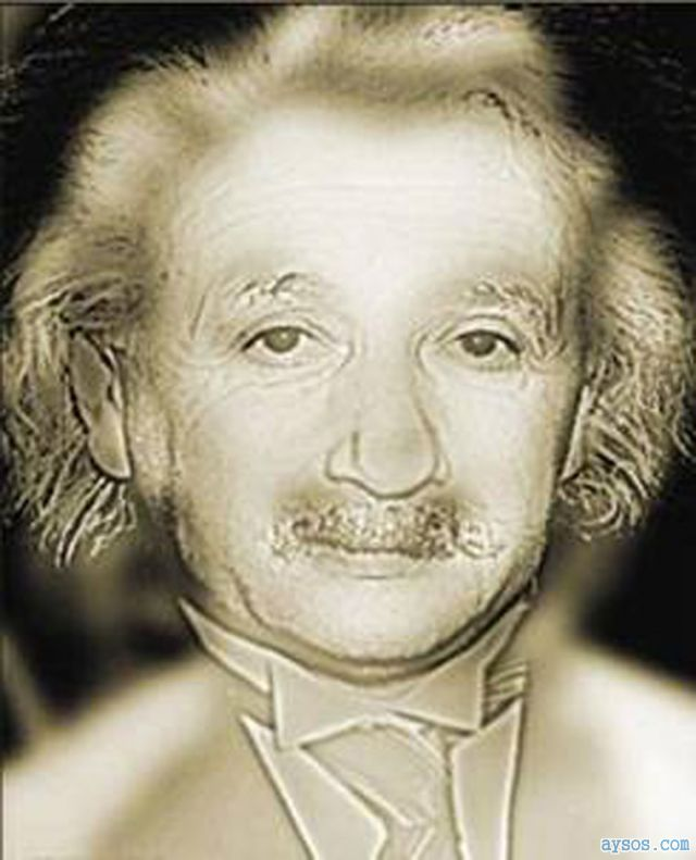 Optical Illusion picture Albert Einstein