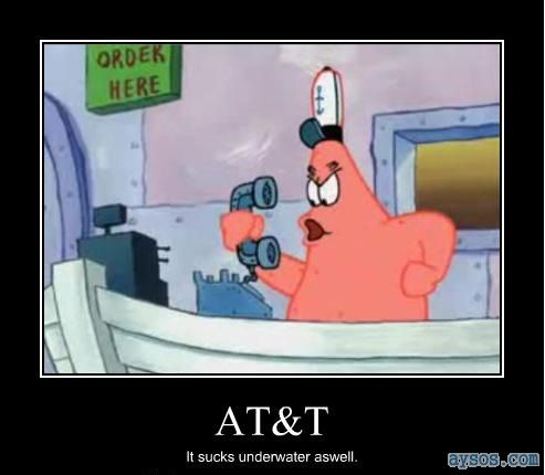Funny AT&T and Patrick from Spongebob